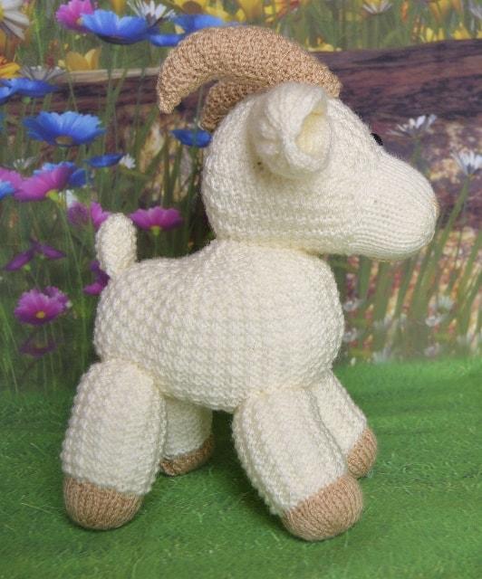 e73fb3627 Gary the Goat Toy Knitting Pattern - Knitting by Post