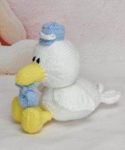 knitted stork pattern