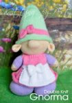 KBP-262 - Gnorma gnome Knitting Pattern Knitted Soft Toy