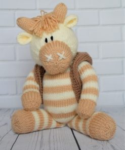 knitted cow pattern