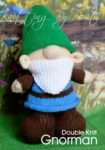 KBP-263 - Gnorman gnome Knitting Pattern Knitted Soft Toy