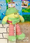 KBP-264 - Mr Dumpty Knitting Pattern Knitted Soft Toy