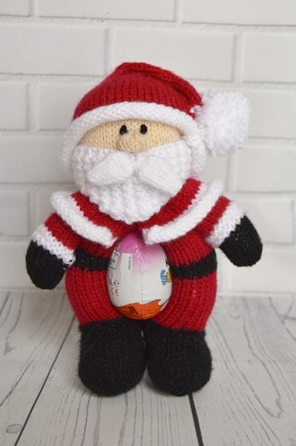 Chocolate Egg Santa Knitting By Post