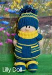 KBP-269 - Lilly Knitting Pattern Knitted Soft Toy