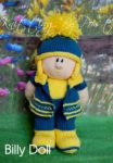 KBP-270 - Billy Knitting Pattern Knitted Soft Toy