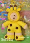 KBP-278 - Giraffe Boy Knitting Pattern Knitted Soft Toy