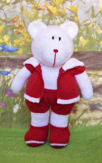 Bear Hugs Polar Bear Knitting Pattern Knitting By Post