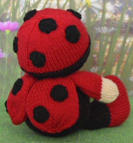 knitted baby ladybird