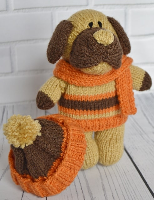 Bonfire The Dog Knitting Pattern Knitting By Post A5 Leaflet Or