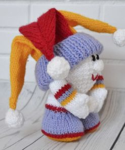 knitted snowball pattern