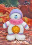 KBP-253 - Choc orange snowman Knitting Pattern Knitted Soft Toy