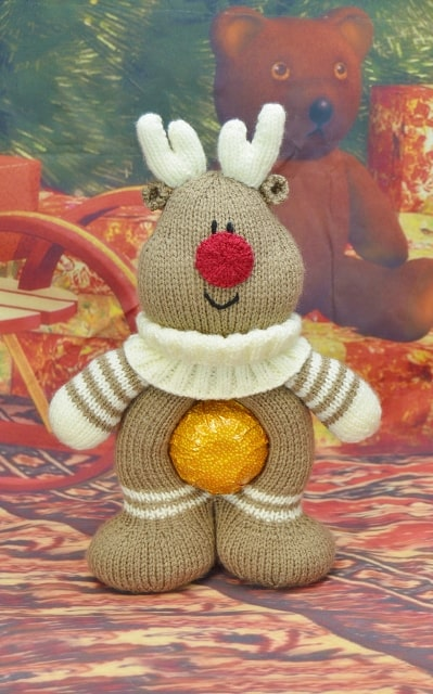 Chocolate Orange Reindeer Knitting By Post