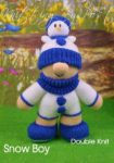 KBP-294 - snow boy Knitting Pattern Knitted Soft Toy