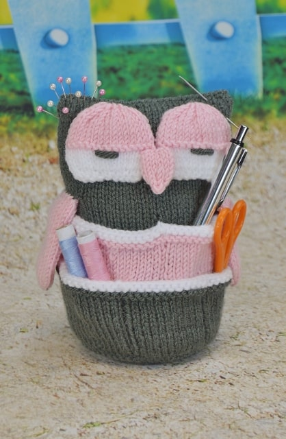 "c92880a10c617b Handy Owl Knitting Pattern - ""Another great pattern to knit. I added a  twisted cord to centre of head and it hangs lovely in my hobby room with my  essential ..."