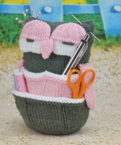 owl organiser knitting pattern