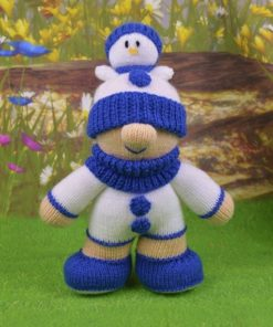 snowman knitting pattern boy with hat gnome style