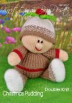 KBP-301 - Christmas Pudding Knitting Pattern Knitted Soft Toy