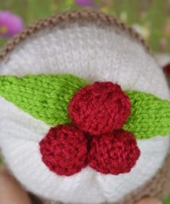 christmas pudding berries pattern
