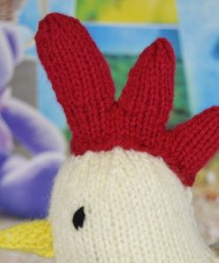 hen with egg knitting pattern