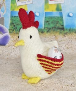 knitted hen pattern