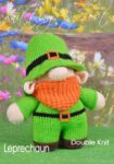 KBP-304 - Leprechaun Knitting Pattern Knitted Soft Toy