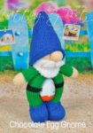 KBP-295 - Choc egg gnome Knitting Pattern Knitted Soft Toy