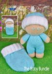 KBP-296 - The Baby Bundle Knitting Pattern Knitted Soft Toy