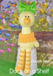 KBP-305 - duck on shelf Knitting Pattern Knitted Soft Toy