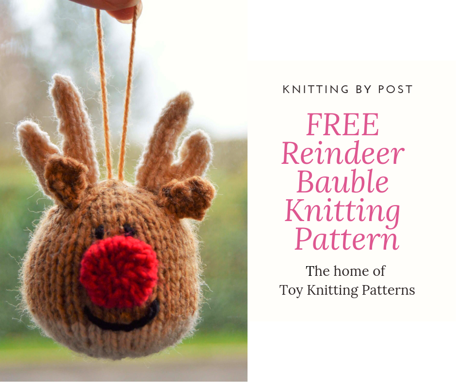 28a749ae7647 FREE Reindeer Bauble Knitting Pattern - Knitting by Post The Home of ...
