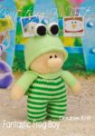 KBP-293 - Fantastic Frog Boy Knitting Pattern Knitted Soft Toy