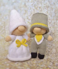 bride and groom knitting patterns wedding day