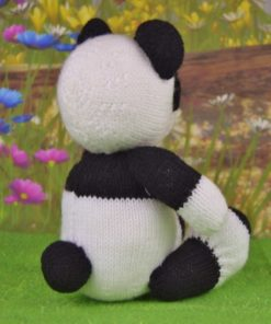 knitted panda pattern