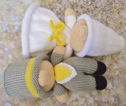 bride and groom toy knitting pattern