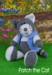 KBP-297 - Patch the Cat Knitting Pattern Knitted Soft Toy