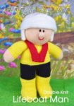 KBP-303 - Lifeboat Man Knitting Pattern Knitted Soft Toy