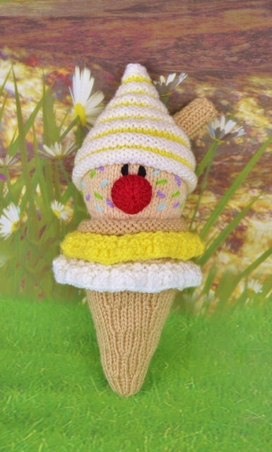 knitted ice cream pattern