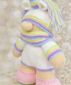 knitted toy unicorn