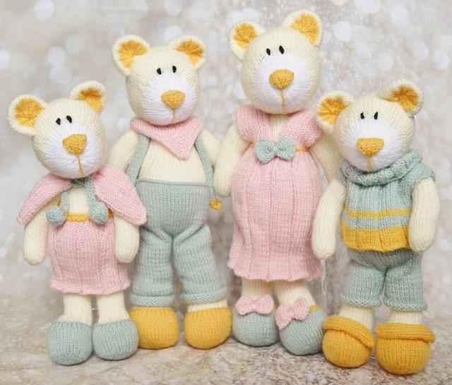 bearwick bear family knitting pattern