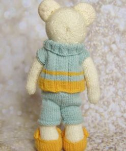 bear knitting pattern back