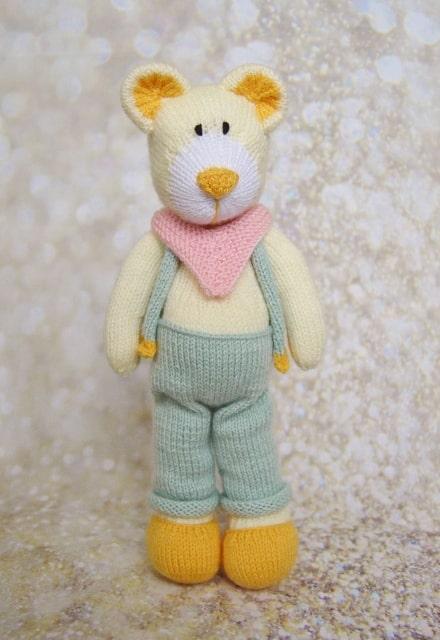 dad bear toy knitting pattern