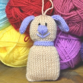 FREE Lavender dog knitting pattern