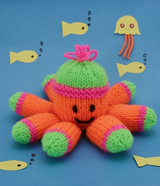 FREE Toy Octopus Knitting Pattern