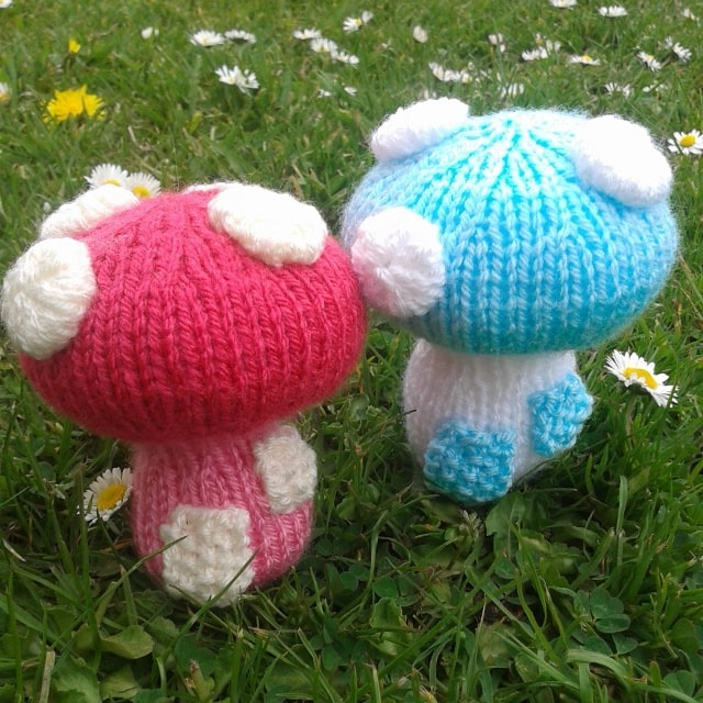 free toadstool knitting pattern