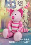 KBP-324 - Rose the Cat Knitting Pattern Knitted Soft Toy