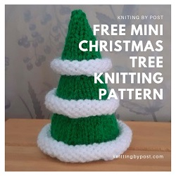 FREE Mini Christmas tree knitting pattern