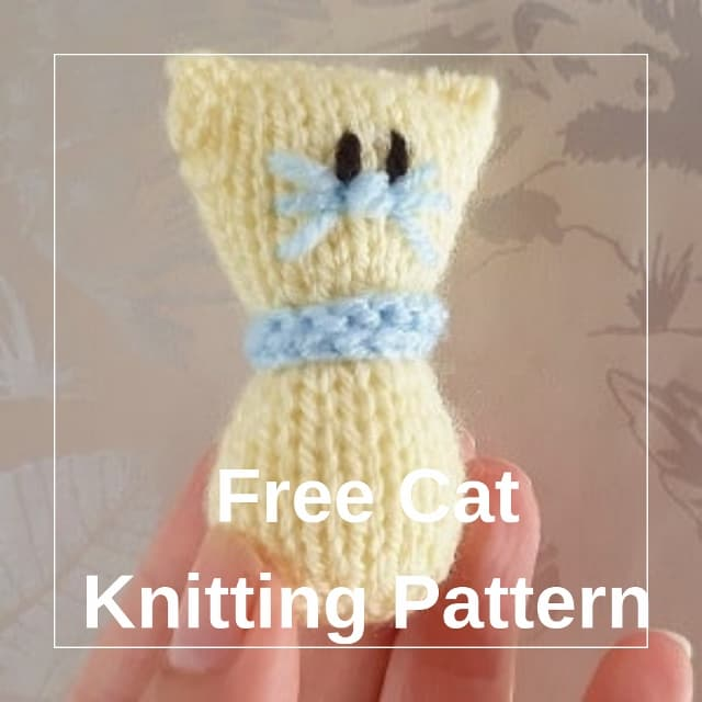 free mini cat knitting pattern