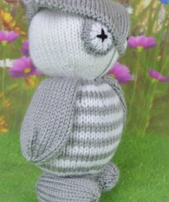 knitted owl soft toy pattern