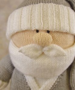 large santa in grey and white boxing day christmas knitting pattern