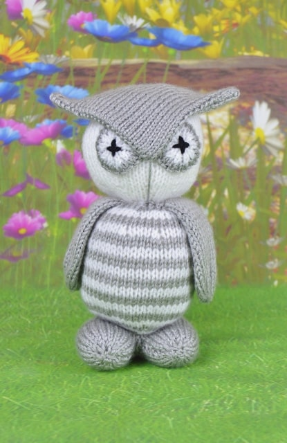 owl plushie pattern knitted download or leaflet in stock