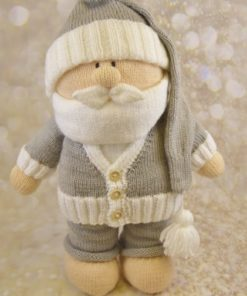 Toy santa on boxing day relaxing soft toy plushie knitting pattern christmas